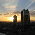 大阪駅・大阪ステーションシティーから眺める夕日