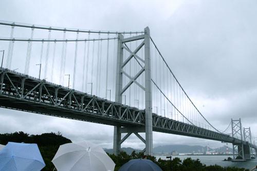 与島PAからの瀬戸大橋