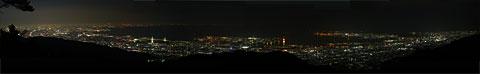 天覧台展望台からの夜景