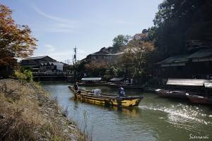 京都嵐山-川下り